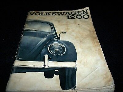 Owner's Manual For The Volkswagen 1200 Beetle Or Bug After 1961.  Jetta, Passant