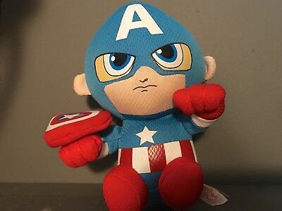 ec40e106e88 NWT Ty Beanie Babies Captain America Plush 2017 Marvel 6 inches tall Super  Hero