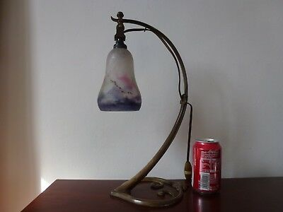 Ancien Lampe Bronze Art Nouveau Tulipe Muller Fres Antique Was Benson Floor Lamp