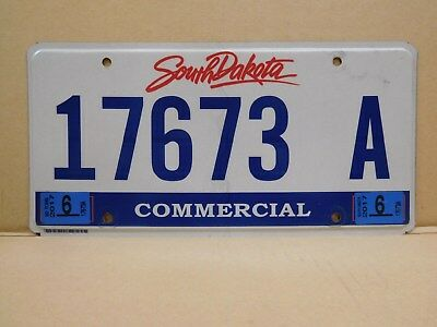 2010's South Dakota Flat Commercial License Plate 17673 A -- FREE SHIPPING (a)