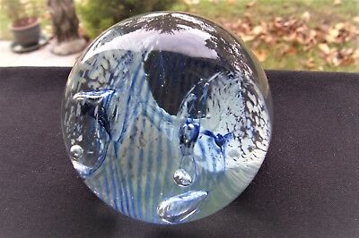 Signed Caithness Crystal Acrobat Paperweight F8786
