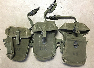 Us Military Universal Small Arms Pouch, Vietnam Era, Good Shape