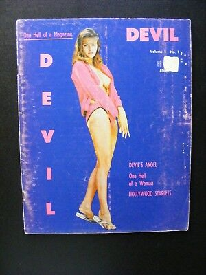 Vintage 1962 Devil Nude Magazine Vol 1 No 1 Adults Only Nude Photography