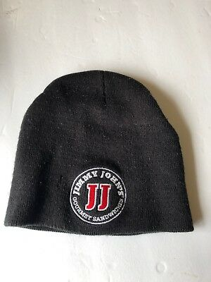 Jimmie John's Employee Pullover Cotton/Wool Winter Hat,Black; Fits Most Any Size
