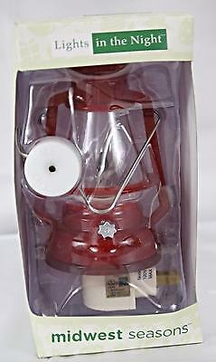Midwest Seasons Lights In The Night Lantern Nitelight With Flicker Bulb NEW