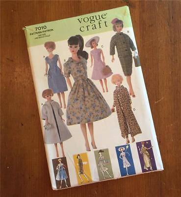 "VOGUE Pattern 7010 BARBIE Wardrobe 11 1/2"" Fashion Doll - UNCUT - Vintage Style"