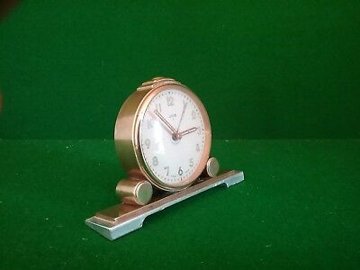 Art Deco Oris 7 Jewel Alarm Clock Swiss Made