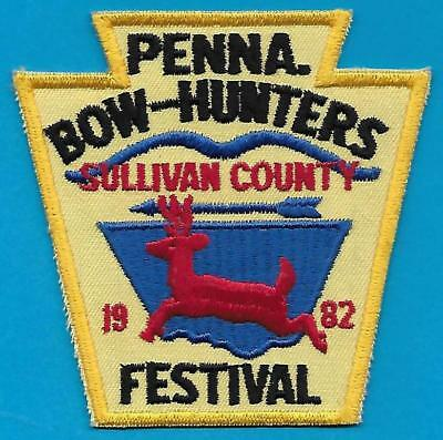 Pa Pennsylvania Fish Game Commission 1982 Sullivan Co Bowhunters Festival Patch