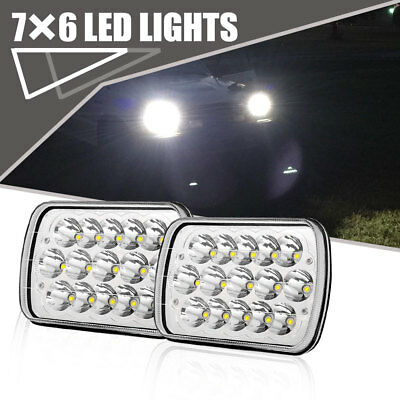 "2packs Headlight LED 6x7"" Auto Lamp Low High Beam Fit Mack CS200P Mid-Liner H4"