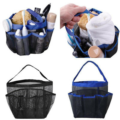 New Portable Mesh Shower Caddy Quick Dry Tote Hanging Bath & Toiletry Organizer
