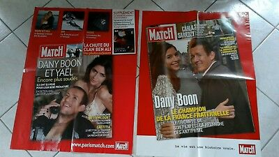 collector lot affiches paris match grd format DANY BOON  2008 port offert
