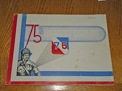 WWII WW2 Unit History 75th Infantry Division + Assn. Poster for Upcoming Book