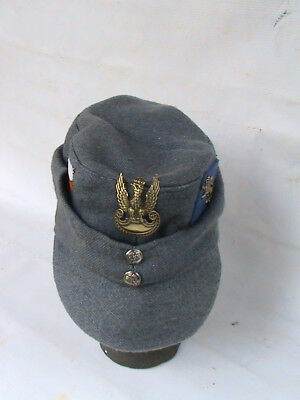 POLISH MILITARY WARSAW UPRISING CAP with EAGLE- VERY RARE - BARGAIN !!
