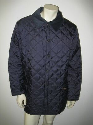 BARBOUR Navy Blue LIDDESDALE Diamond Quilted Jacket Size MEDIUM