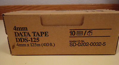 imation 4mm DDS-125 DDS3 12GB/24GB Data Tape Cartridge (10 pack)