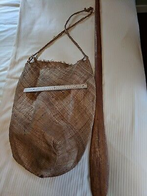 papua new guinea sago bag and stick