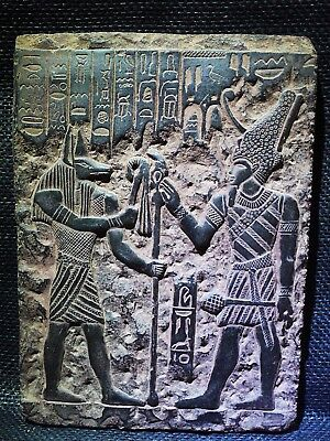 EGYPTIAN ANTIQUES ANTIQUITIES Wepwawet Anubis Seti I Stela Relief 1290-1279 BC
