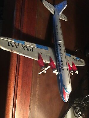 "1950's  ""Pan Am"" Tin Airplane ""Made In Japan"""