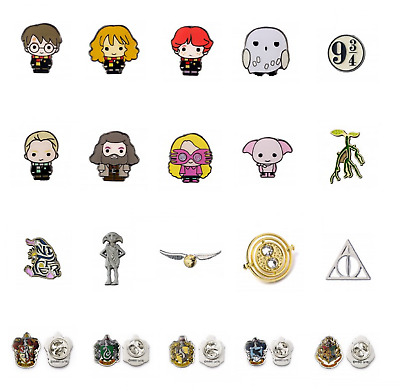 Official Harry Potter Metal Pin Badge Brand New Novelty HP Film Gift Chibi