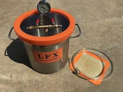 3 Gallon Vacuum Chamber Purge Oven Degassing Container