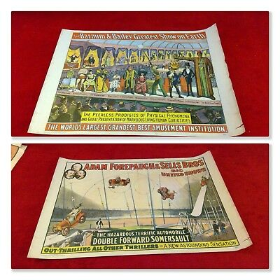 *Vintage Original Lot of 2* 1960 Barnum & Bailey Greatest Show on Earth Posters