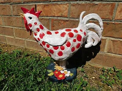 BIG OOAK Folk Art Pottery Rooster - Signed/Dated - Gallery Piece Tennessee