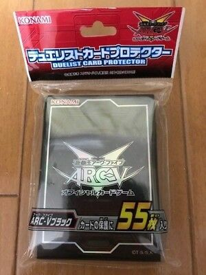 Limited YuGiOh ARC-V OCG BLACK Duelist Card Sleeve Protector 55pcs KONAMI JAPAN