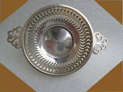 hallmarked sterling Silver pierced bonbon dish 1910 by Synyer & Beddoes