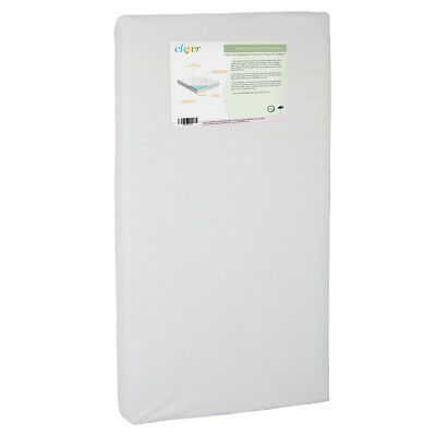 Clevr White Waterproof Baby & Toddler Bamboo Fabric Memory Foam Crib Mattress