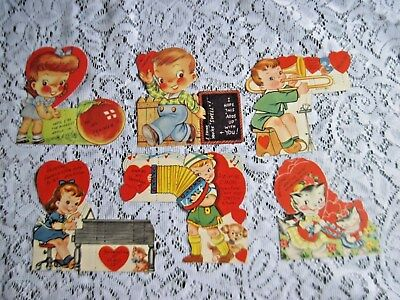 Great Lot of 30 Vintage Kids Stand-up Valentines~Mint Unused Condition~1940s/50s