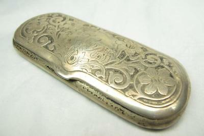 Antique Victorian Sterling Silver Eyeglasses Spectacles Case