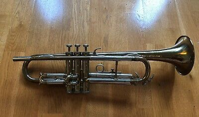 Silvertone Bb Trumpet Made in Elkhart Indiana Vintage