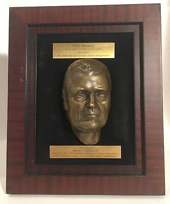 Fmr.Pres. Of The American Bar Assoc. Alfred P.Carlton John Marshall Bronze Bust