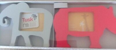Pack Of 2 Picture / Photo Frames From The Tusk Range At Mothercare...bnib