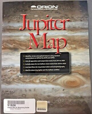 Orion 51926 Jupiter Map and Observing Guide (Black)