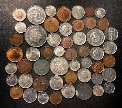 Old Netherlands Coin Lot - 1912-PreEuro - 52 Great Coins - Lot #111