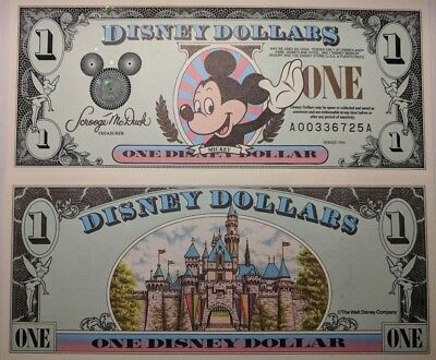 Scarce 1996 Series Early Date Disney Dollar  ** Mint Condition