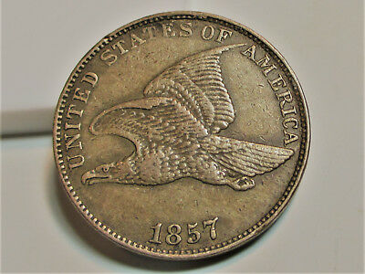 1857 FLYING EAGLE CENT PENNY 1c **XF** RARE US COIN.