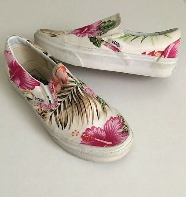 548a08da7af4d3 Vans Tropical Hawaiian Floral Hibiscus 🌺 Canvas Tennis Shoes Sz 6 Women 4.5  Men