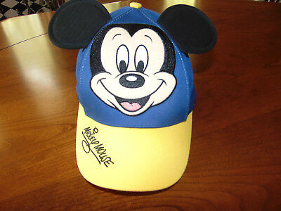 d2bb5d575e1 Mickey Mouse Walt Disney World EXCLUSIVE Hat Cap Youth Kids Snapback BLUE  YELLOW