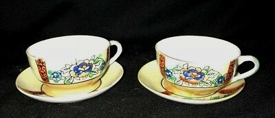 2 x Delicate Tea Cup and  Saucer Sets