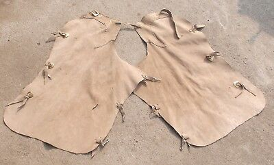 Vintage Handmade Split Suede Leather Western Riding Chaps  Cowgirl Cowboy 4H FFA