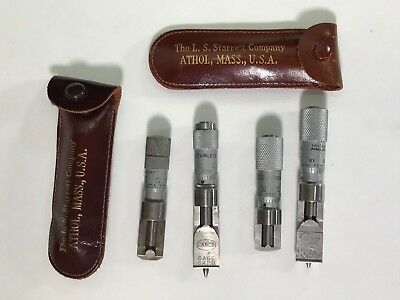 Lot of 3 LS Starrett Depth Gauges Measuring Machinist Tools 5420 & Lufkin