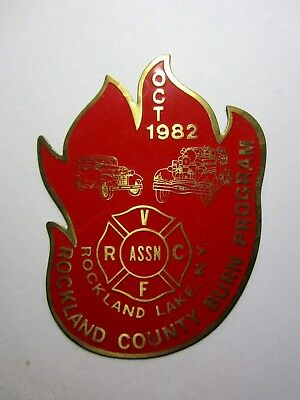 vintage ROCKLAND LAKE NY Fire Department Rockland County New York SMALL PLAQUE