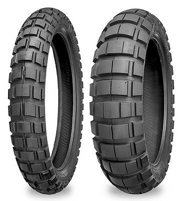 Shinko E805/E804 Dual Sport Pair 130/80-17 & 90/90-21 Big Block Tyre KLR650