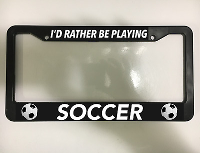 I/'d rather be playing BOCCE BALL License Plate Frame