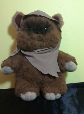 Stuffed Plush Wicket Ewok Star Wars Toy 1983 Kenner Collectible - Preowned