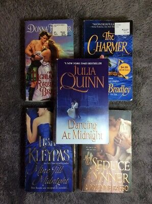 Historical Romance Period Piece Paperback Lot Of 5 Binge Reading Books - USED