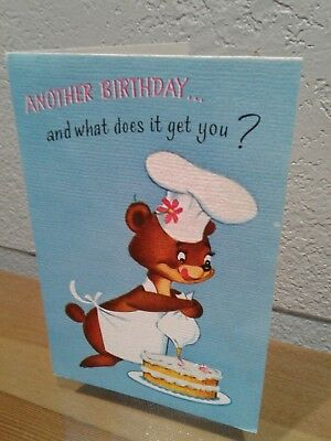 Baking Bear Birthday Cake Sticky Fingers Illustrated Inside Also Rust Craft Card