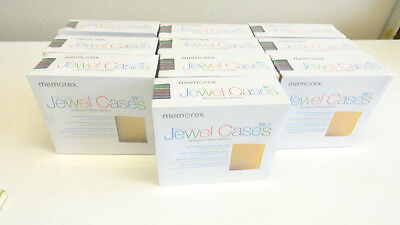 New MEMOREX Slim Jewel Cases Large 100 Pack Count Multi Color Discs CDs DVD